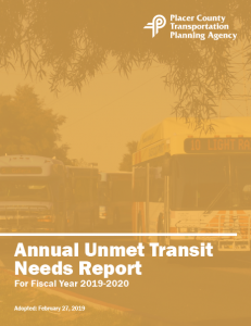 UTN report cover, orange with bus faded in background